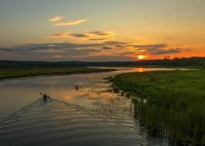 C4 Quaboag River Kayak Sunset